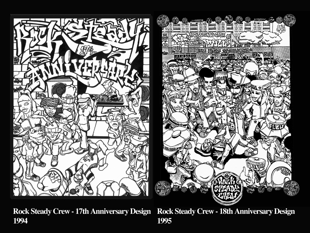 Rock Steady Crew 17th & 18th Anniversary art by East3