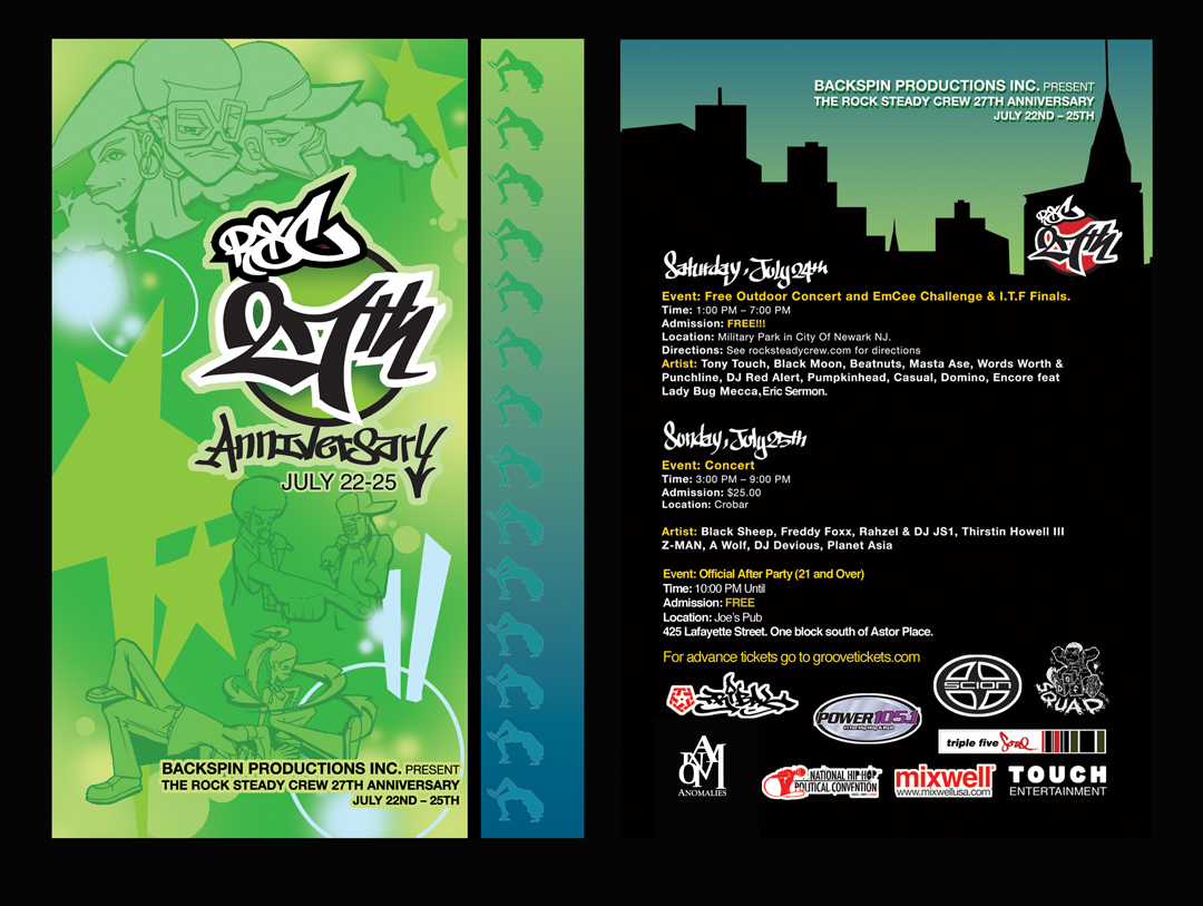 Rock Steady Crew 27th Anniversary flyer by East3