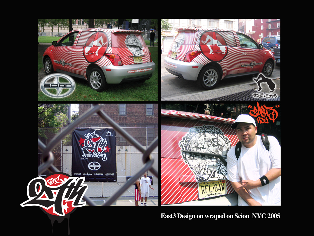 Rock Steady Crew 27th Anniversary art by East3 on Scion
