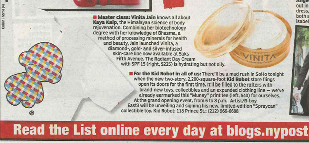 East 3 mention on New York Post