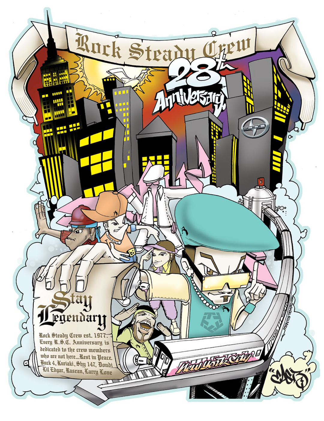 Rock Steady Crew 28th Anniversary art by East3