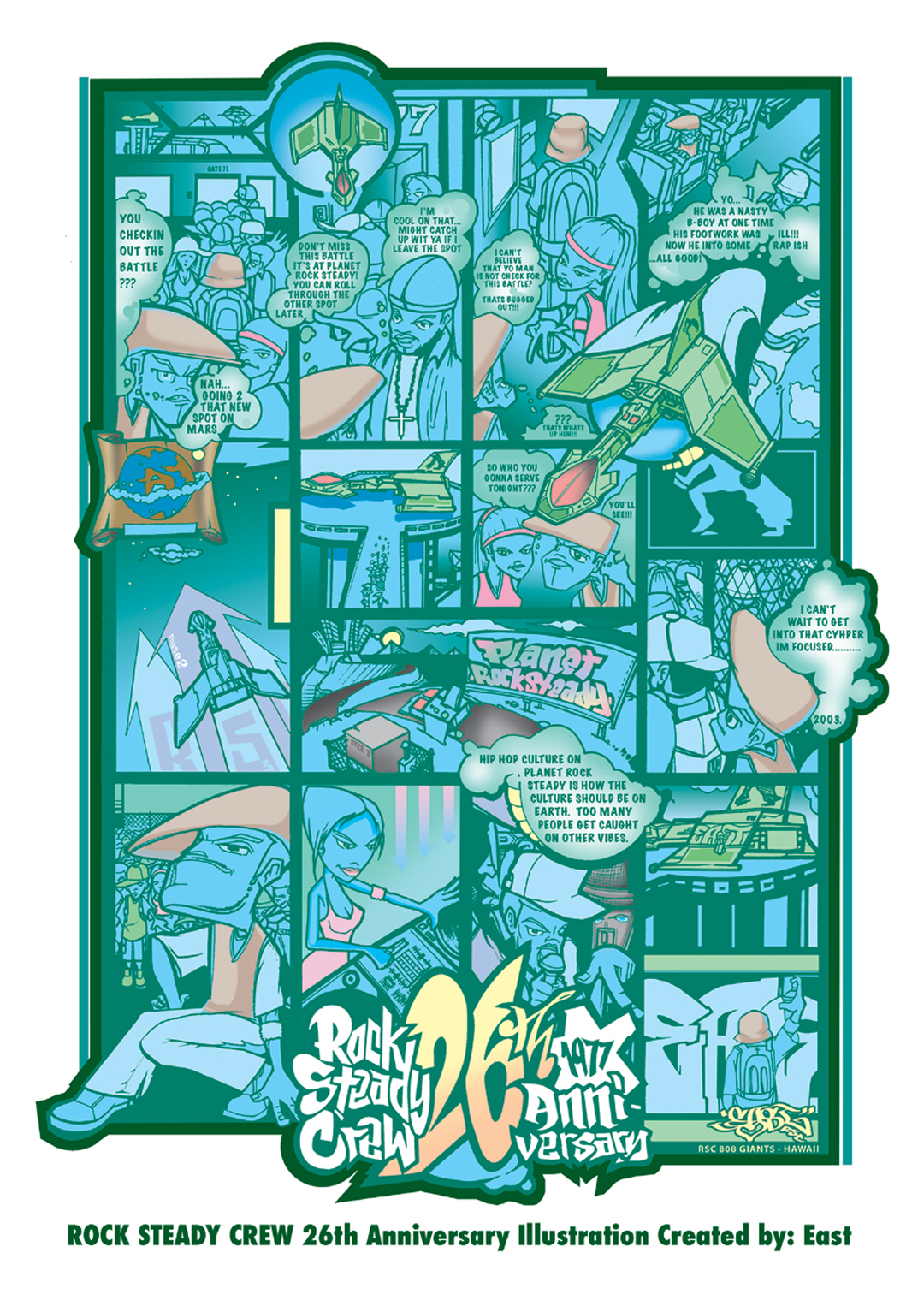 Rock Steady Crew 26th Anniversary art by East3